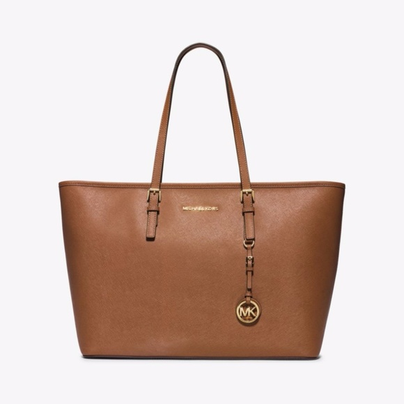 0bd877c03058 Michael Kors Bags | Jet Set Trl Md Saffiano Leather Tote | Poshmark